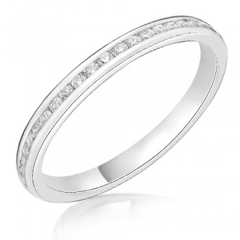 Platinum .19ct Diamond Channel set Wedding Ring