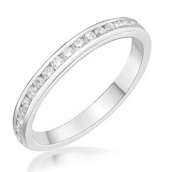 Platinum .21ct Diamond Channel set Wedding / Eternity Ring