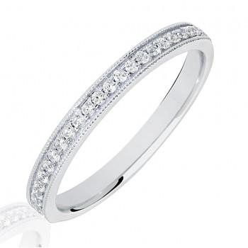 Platinum .15ct Diamond Micro claw set Diamond Wedding Ring