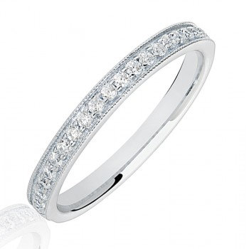 Platinum .20ct Diamond Micro claw set Eternity Ring