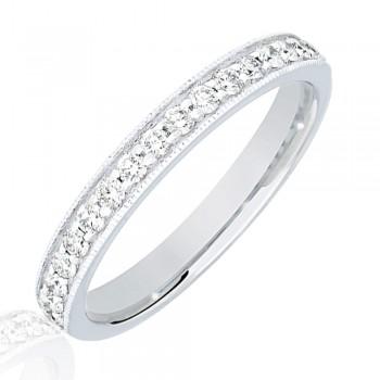 Platinum .33ct Diamond Micro Claw Set Wedding Ring