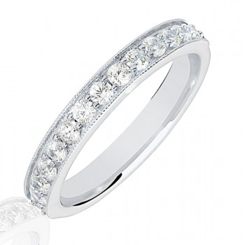 Platinum .50ct Diamond Micro Claw Set Wedding Ring