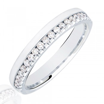 Platinum .33ct Diamond Offset Wedding Ring