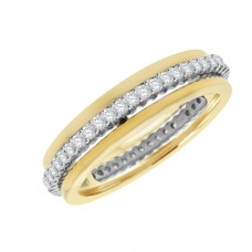 18ct Two-Tone Gold Revolving Eternity Ring