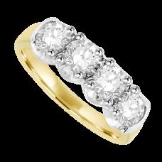 18ct Gold 4-stone Diamond Eternity Ring