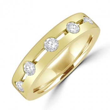 18ct Gold 5-stone Diamond Split Band Ring
