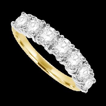 18ct Gold 7-Stone Diamond Eternity Ring