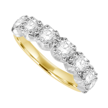 19ct Gold 7-stone Diamond Eternity Ring