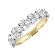 18ct 20st Diamond Eternity Style Ring - Alt 2 x 1 Setting