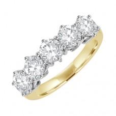 18ct Gold 5Stone Diamond Eternity Ring