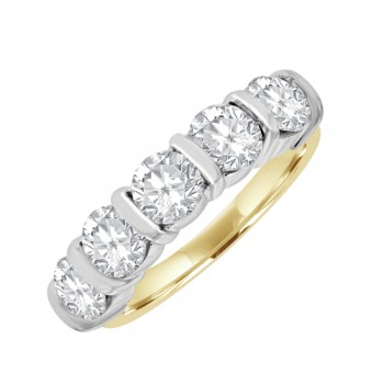 18ct Gold 5st Diamond Eternity Ring