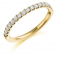 18ct Gold Diamond micro claw Eternity Ring