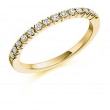 18ct Gold Castle set Diamond Eternity Ring