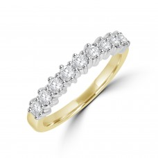 18ct Gold 9-stone Diamond Eternity Ring