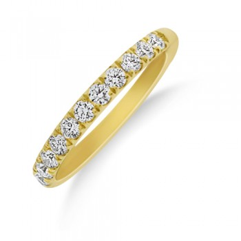 18ct Gold Castle set Diamond Wedding Eternity Ring