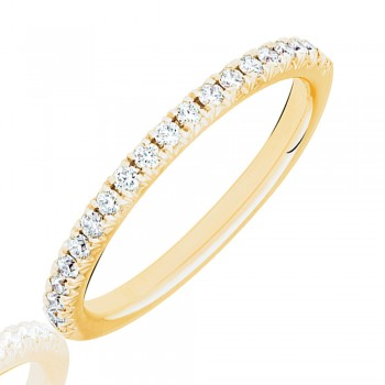 18ct Gold Diamond French Pave Eternity Ring