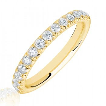 18ct Gold .50ct Diamond French Pave Eternity Ring