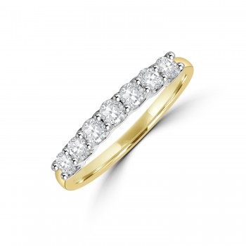18ct Gold & Platinum V-claw .50ct Diamond Eternity Ring