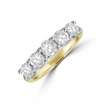 18ct Gold & Platinum V-claw 1.20ct Diamond Eternity Ring