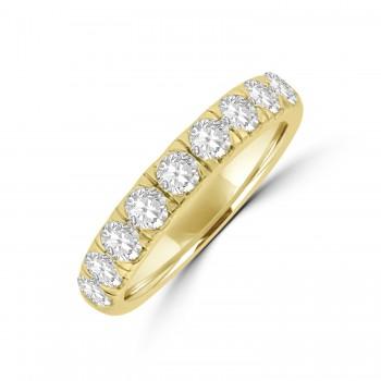 18ct Gold 1.00ct Diamond Castle set Eternity Ring