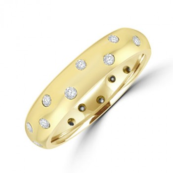 18ct Gold Diamond Scatterset Wedding Ring