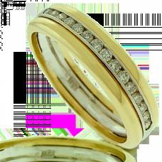 18ct Gold Two-Tone Diamond Wedding Ring