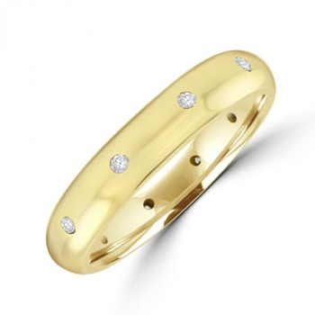 18ct Gold Diamond set Wedding ring