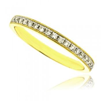 18ct Gold Micro Claw Set Diamond Wedding Ring