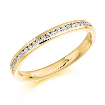 18ct Gold Diamond Channel Set Wedding Ring