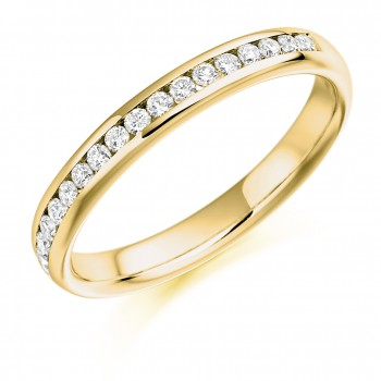 18ct Gold Diamond Channel Set Wedding Ring