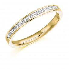 18ct Gold Baguette cut Diamond Wedding Ring