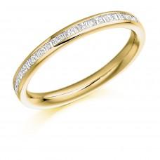 18ct Gold Princess & Baguette cut Diamond Wedding Ring