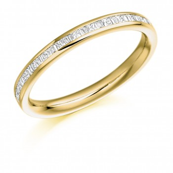 18ct Gold Princess & Baguette cut Diamond Wedding Ring