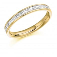 18ct Gold 10-stone Baguette Diamond Eternity Ring