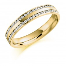 18ct Gold Double-row Diamond Eternity Ring