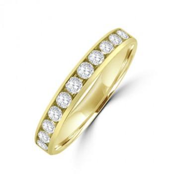 18ct Gold 11-stone Diamond Wedding Ring