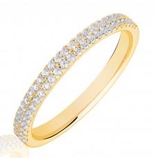 18ct Gold Double Row Diamond Wedding Ring