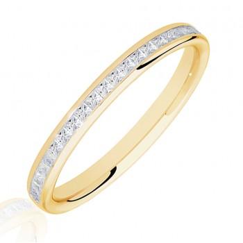 18ct Gold .25ct Princess cut Diamond Wedding Ring