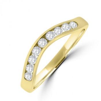 18ct Gold Diamond Shaped Eternity/Wedding Ring