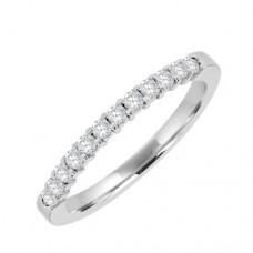 18ct White 12st Diamond Eternity Ring