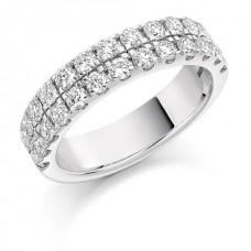18ct White Gold Double Row Diamond Eternity Ring