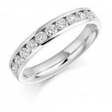 18ct White Gold 11-stone Diamond Wedding Ring
