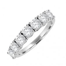 18ct White Seven stone Diamond Claw Etenity Ring