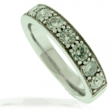 18ct White Gold 7-stone Diamond Eternity Ring