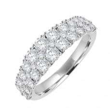 18ct White Gold 3row Diamond Eternity Style Ring