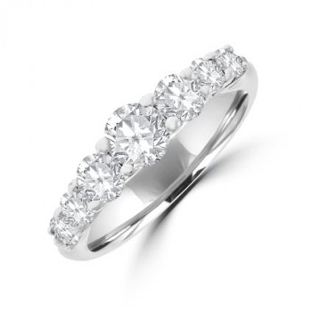18ct White Gold 7-stone Diamond Graduated Eternity Ring