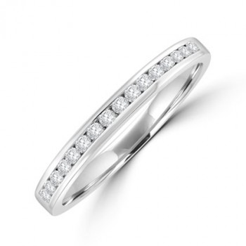 18ct White Gold Diamond Channel set Wedding ring