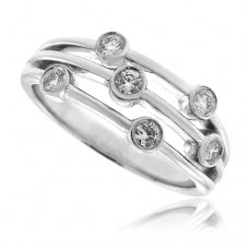 18ct White Gold Diamond Scatterset Eternity Ring