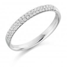 18ct White Gold Double-Row Diamond Eternity Ring