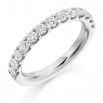 18ct White Gold 1.00ct Diamond Micro claw set Eternity Ring